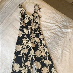 Topshop Floral Culotte Romper